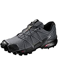 Men's Casual Grey Color Athletic and Outdoor Tracking Sports Shoes - Size 6