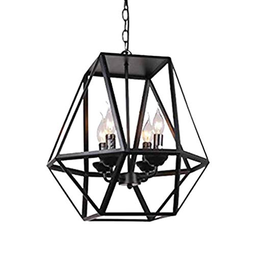 Modeen 4 luci e14 americano retrò industria lampada a sospensione in ferro battuto gabbia per uccelli ristorante lampadario creativo vintage cucina loft bar decorazione regolabile luce del pendente a