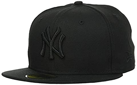 New Era - MLB Basic NY Yankees 59Fifty Fitted - Chapeau Homme, noir (black on black), 7 1/4inch - 58cm