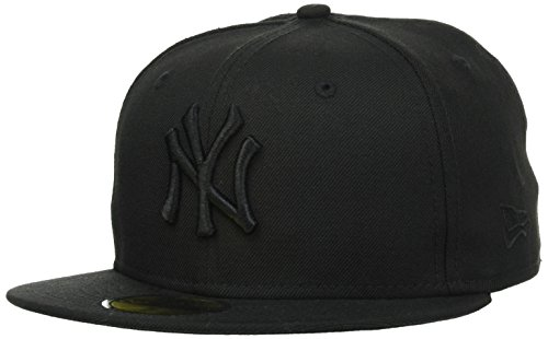 New Era Erwachsene Baseball Cap Mütze Mlb Basic New York Yankees 59Fifty Fitted,10000103,schwarz, 7 5/8