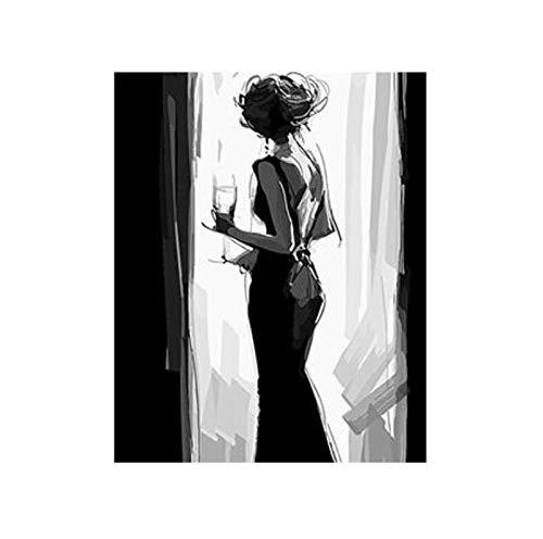 WACYDSD Puzzle 3D Puzzle 1000 Piezas Vinilos De Pared De Mujer con Decoración De Hogar.