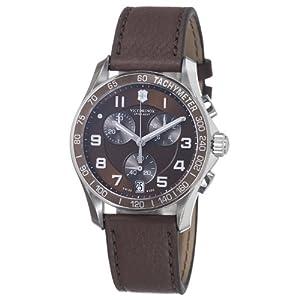 Victorinox Swiss Army - Reloj analógico de cuarzo para hombre con correa de piel, color marrón de Victorinox