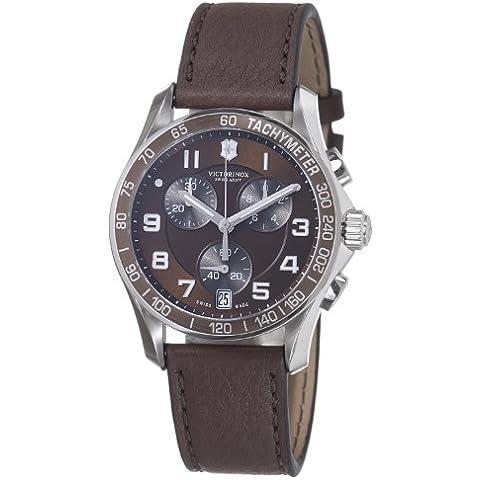 Victorinox Swiss Army - Reloj analógico de cuarzo para hombre con correa de piel, color marrón