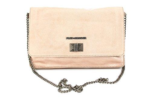 FREDsBRUDER Flashlight Clutch Umhängetasche Ledertasche Handtasche rosé gold - 24x16x2 (B x H x T)