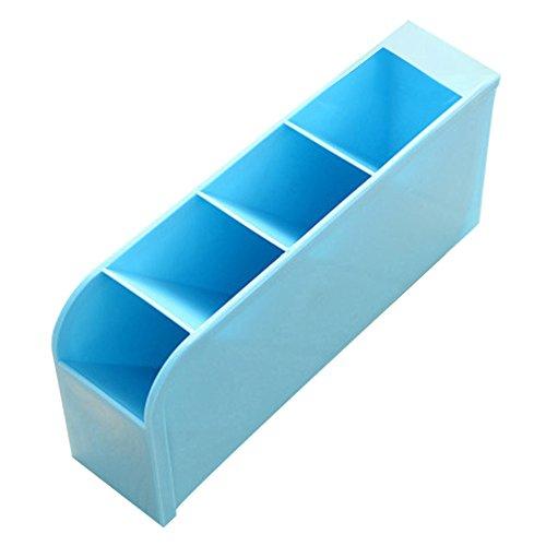 OSYARD Aufbewahrungskorb Kunststoff Büro Ablagekorb Home Desktop Aufbewahrungsbox Aufbewahrungskiste Aufbewahrungsboxen Küche Finishing Korb Organizer Cosmetic Divider,5 Zellen