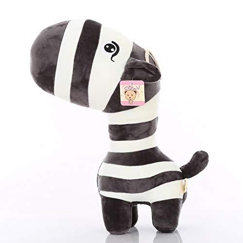POPRY Kreatives Zebra Plüschtier Rag Doll Puppenkissen süße Hochzeitspuppe Kinder Geburtstagsgeschenk Mädchen, Schwarz, 40 cm