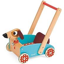 Janod - Andador Carrito Crazy Doggy, diseño perro (J05995)