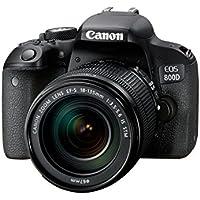 Canon EOS 800d + EF-S 18–135F/3.5–5.6IS STM fotocamera reflex digitale 25.8Mpix NERO