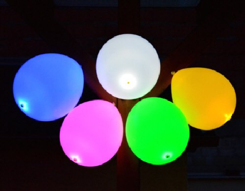 Halloween-Deko: Luft-Ballone LED selbstleuchtend, 25er Set, outdoor + Helium geeignet, Lieferung Frei Haus