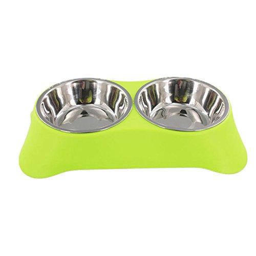 UEETEK Comedero para Perro Gato Mascota Tazón de Agua Alimentación Plato Alimentador...