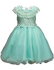 ZAMME Niñas Tulle junior de la dama de honor flor vestido de la parte del vestido de la boda