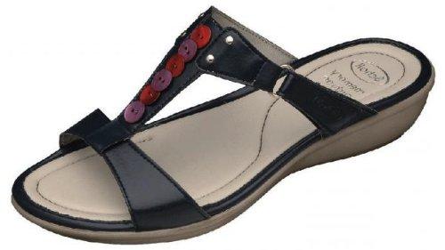Scholl , Sandales pour femme Noir - Bleu marine