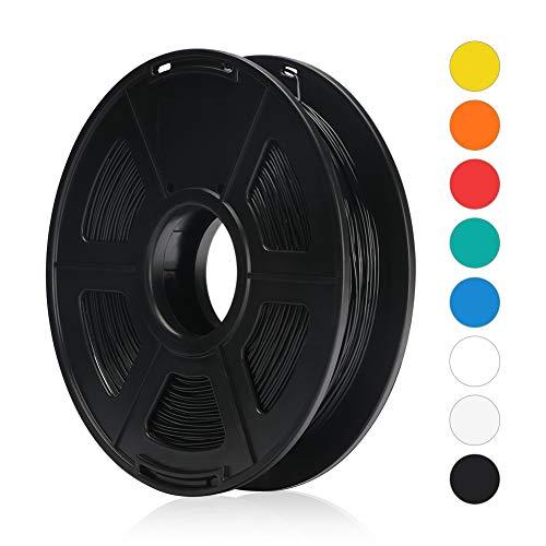 ANYCUBIC Flexibles TPU-Filament 1.75 mm, Genauigkeit +/- 0,02 mm Umweltfreundlich 500 g, für FDM 3D-Drucker Mega-S Chiron (Schwarz)