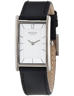 Boccia Damen-Armbanduhr Titanium Analog Quarz Leder 3217-01
