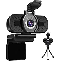 LarmTek Full Hd Webcam 1080p Videokamera mit Webcam Abdeckung,USB Webcam mit Eingebautes Mikrofon,Mini Plug and Play für…
