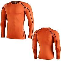 401c11023e8 Liuxiaomiao Men s Long Sleeve Training Sports T-Shirt Baselayer Cool Dry  Compression Top Running Sweatshirt