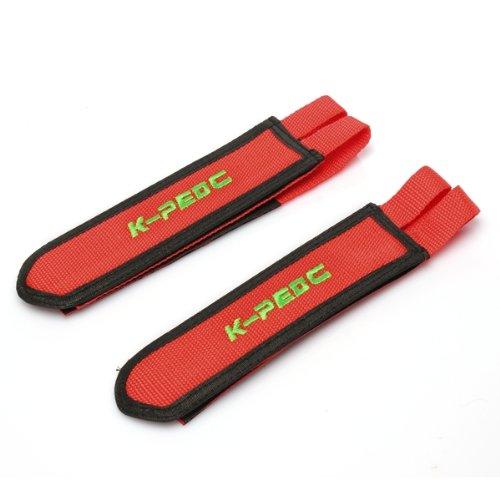 Preisvergleich Produktbild CARCHET Paar Pedalriemen Pedal Straps Fixie Klettverschluss Pedalhaken Nylon Rot