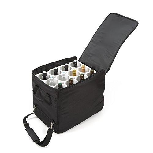 Le bagage à vin The Wine Check pour 12 Bouteilles spécial avion - Conforme aux réglementations aériennes pour bagage en soute - Résistant aux chocs et aux variations de température