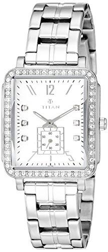 Titan Analog White Dial Women's Watch-95042SM01J image