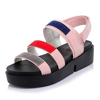 Sandales femmes Printemps Été robe simili cuir semelles lumière lianes lianes occasionnels Magic Tape Blushing Pink