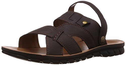 FLS (By Franco Leone) Men's Brown Flip Flops Thong Sandals - 8 UK/42 EU  available at amazon for Rs.247