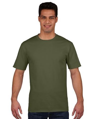 Gildan Mens Premium Cotton Ring Spun Short Sleeve T-Shirt (XL) (Military (Militari T-shirt)