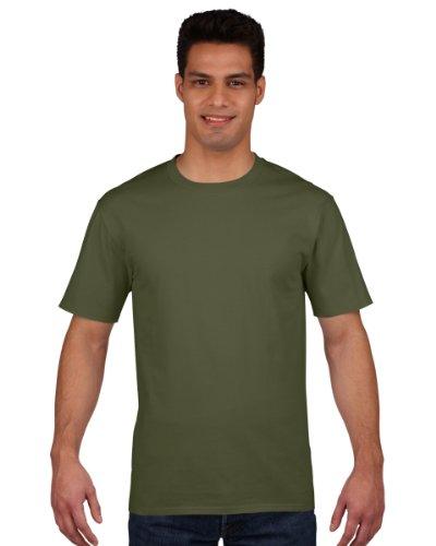 Gildan - Maglietta 100% Cotone - Uomo (L) (Verde (Militari T-shirt)