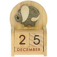 l'éléphant : Calendrier Perpétuel en Bois : traditionnel fait main cadeau d'anniversaire et de Noël Idées cadeau de Noël : Taille : 10,5 X 7 X 3,5 Cm : achetez un insolite et Quirky Alternative à un calendrier de l'avent : unique et fantaisie cadeau : cadeau pour tous les âges. de la date Forever Plus.