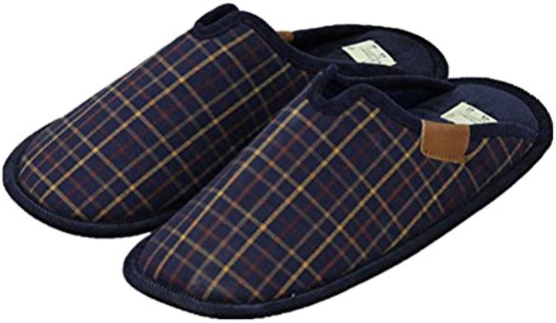 mhgao Home Interior antideslizante hombres cálido Casual zapatillas de algodón, 2, medium