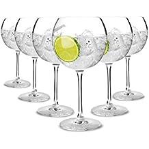 Tivoli Ibiza ' Gin Tonic gafas/650 ml/juego de 6/ideal para fiestas y cócteles/diseño elegante/apto para 6 personas