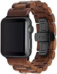 Accesorios Wearables Woodcessories EcoStrap Apple Watch Band 38mm, nuez negro
