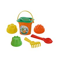 Polesie 2181 26 Size Flower Sieve Shovel No. 2 Rake No. 2 3 Forms -Sets: Bucket, Small, Multi Colour