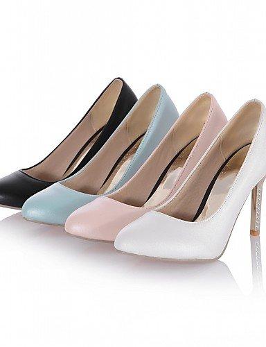 WSS 2016 Chaussures Femme-Bureau & Travail / Habillé / Décontracté-Noir / Bleu / Rose / Blanc-Talon Aiguille-Talons-Talons-Similicuir black-us9.5-10 / eu41 / uk7.5-8 / cn42