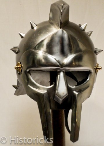 Gladiator Maximus Helmet / fitted liner - movie / film / larp / role-play / fancy-dress by Historicks