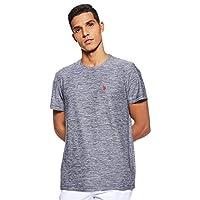 U.S. Polo Assn. Men's Round Neck Short sleeve T-Shirt, Black (Clnv), Large