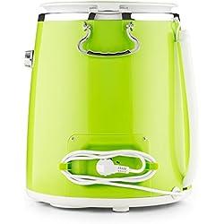 OneConcept Ecowash-Pico • Machine à Laver de Camping • Etanche (Norme IPX4) • Timer réglable • Capacité : 3,5 kg • Puissance d'essorage 135W • Montage et démontage Facile • Vert