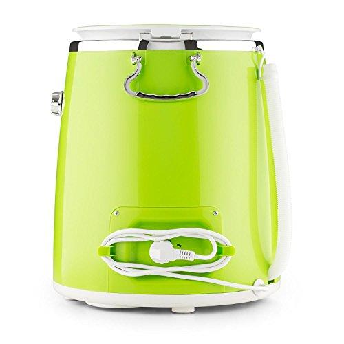OneConcept Ecowash Pico • Machine à Laver Camping • Mini Lave-Linge • Écologique • Manuelle • Essorage • 3,5 kg de Linge • Minuterie • Étanche • Silencieux • 350 W • Bleu