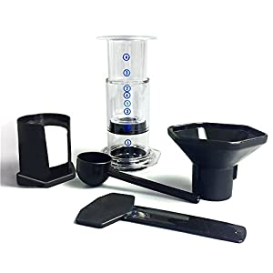 Chengstore AeroPress Coffee Maker with Coffee Filter Tools Set, Portable Coffee Maker Press Pot Coffee Filter Paper