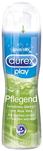 Durex Play Pflegend Sensitives Gleitgel, mit Aloe Vera, 1er Pack (1 x 50 ml)