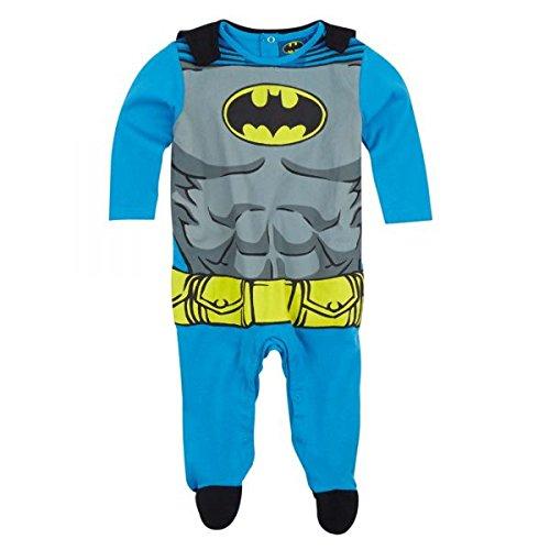 Batman Strampler Anzug Overall, blau-grau, Gr. 62-92 Größe (Superman Anzug Kinder Für)