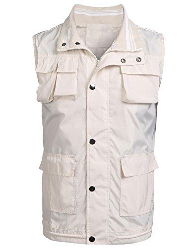 Burlady West Outdoor Arbeitsweste Unisexweste Ärmellose Jacke mit Viele Pattentaschen Bodywarmer Optimale Qualität Sport Hiking Angeln