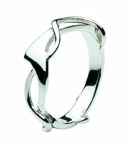Dew Sterling Silver Art Nouveau Ring - Size - K
