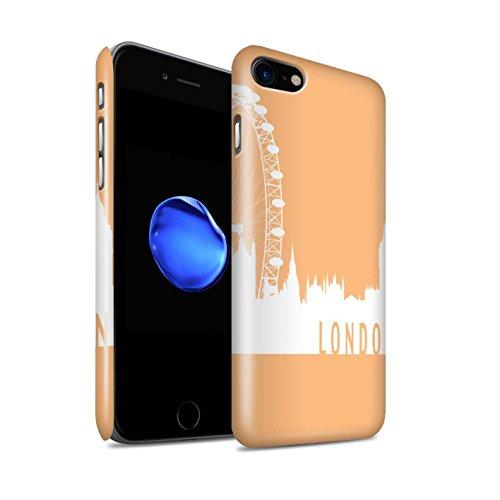 STUFF4 Glanz Snap-On Hülle / Case für Apple iPhone 8 / Pack 5pcs / Stadt Skyline Kollektion London/Orange