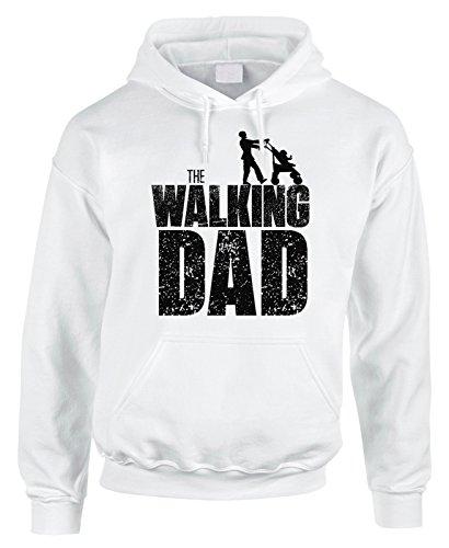 Felpa con cappuccio Festa del papà - The Walking Dad - happy father's day - in cotone by Fashwork
