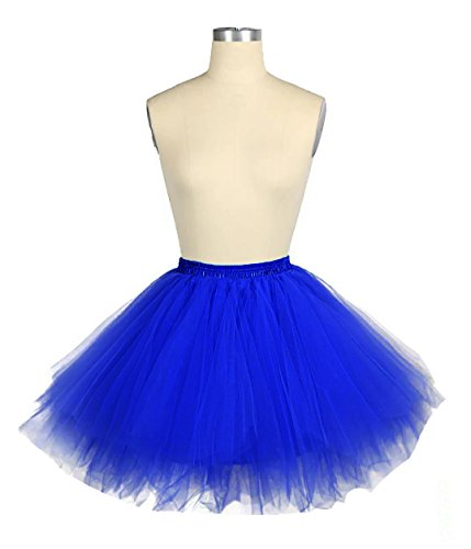 Facent Donna Retro Annata di 50 Anno Tutu Gonna Balletto di Danza Principessa Sottogonna per il Partito di Prom Tulle Rosso