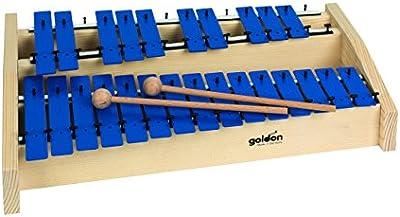 Goldon 11148 platos de sonido metalófono octava - azul
