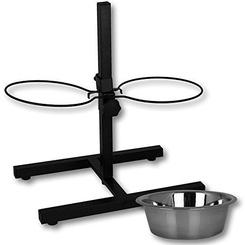Hundebar – Futternapf – Futterbar mit 2x 1,8L Edelstahlnäpfe – Napfständer – Hundenapf mit Ständer - 5