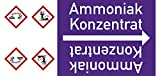 LEMAX® Rohrleitungsband Ammoniak Konzentrat,DIN 2403,ab Ø 15mm,violett/weiß,33m/Rolle