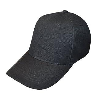 Plain Colour Adjustable Baseball Cap (Black)