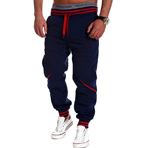 Pantaloni sportivi pantaloni della tuta decorazione della chiusura lampo allacciatura da uomo pantaloni della tuta Pantaloni Sport Fitness, Navy XL